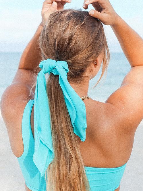 Hair Scarf scrunchie- Electric Blue