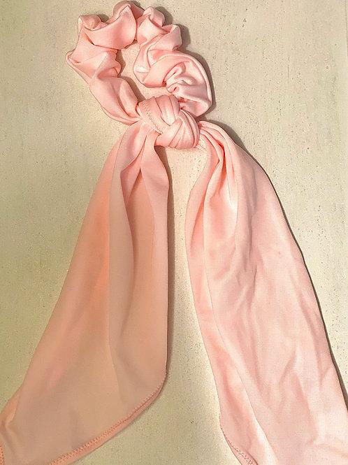 Hair Scarf Scrunchie- Baby Pink