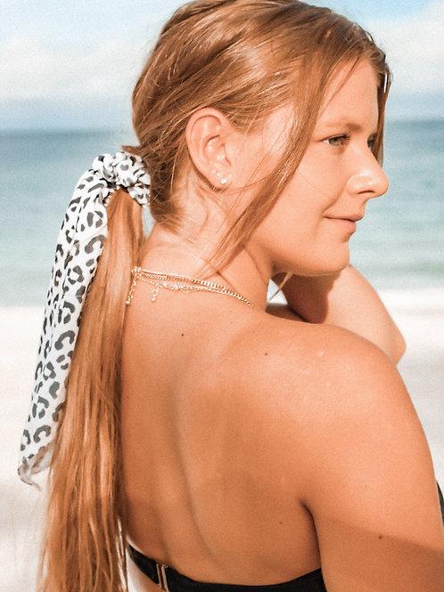 Hair Scarf Scrunchie- Cheetah