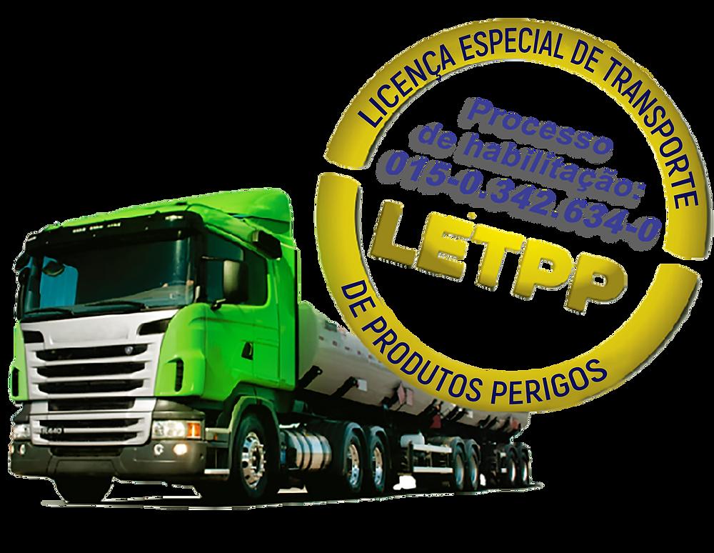 Licença Especial para transporte de produtos perigosos