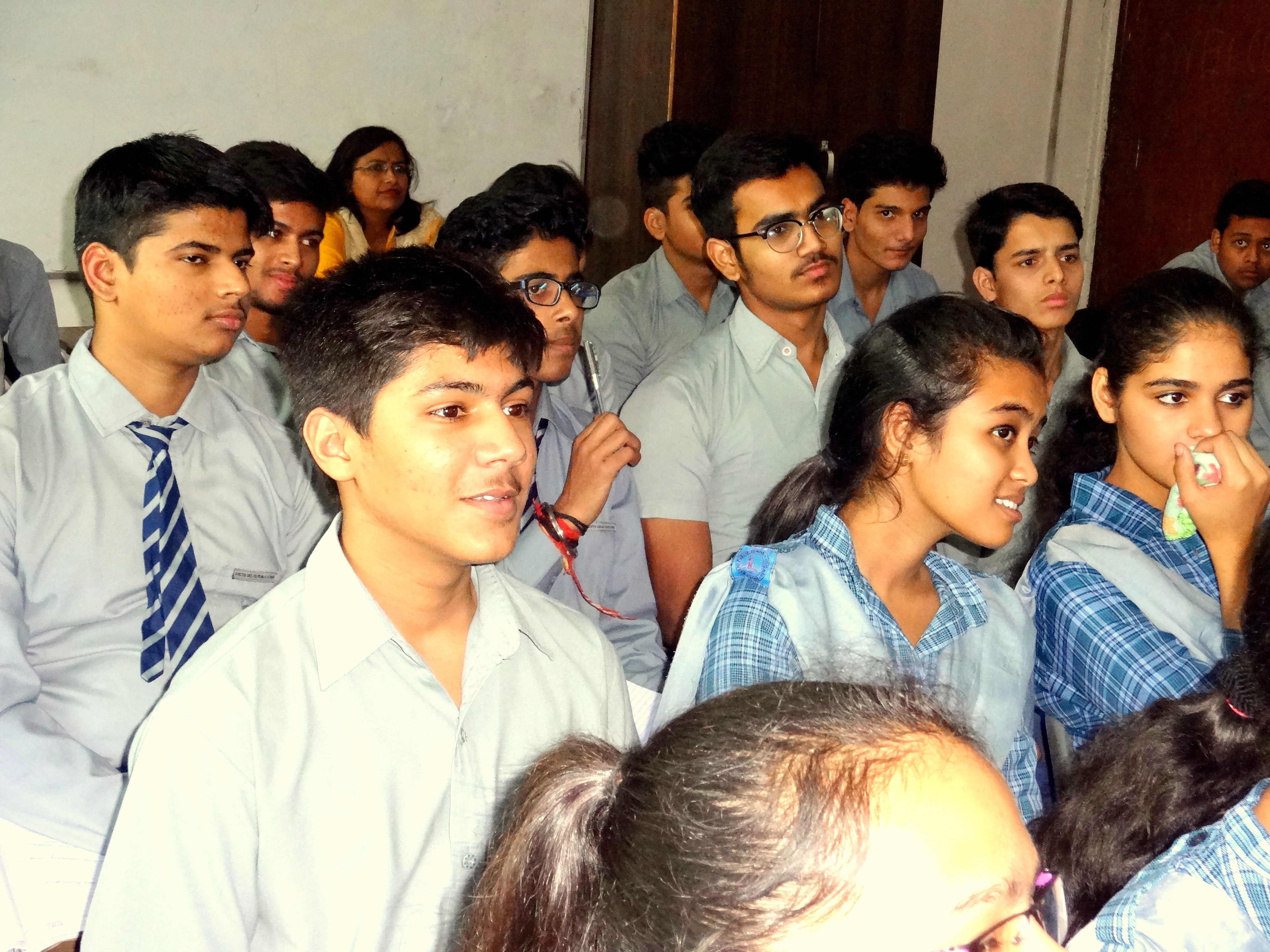 Students getting Career Guidance
