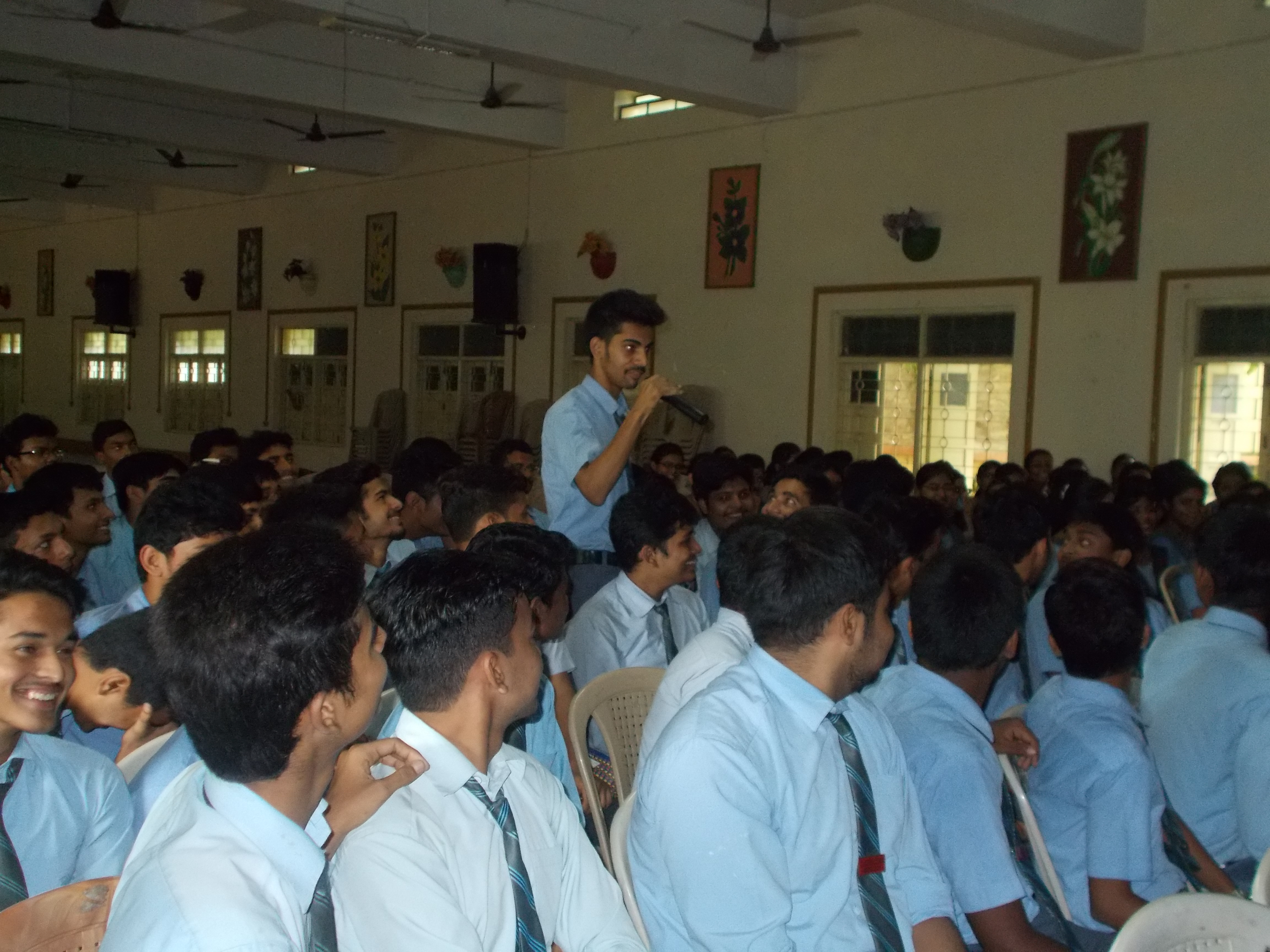 Live Interaction during career guidance seminars