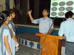 Interaction with students during seminar