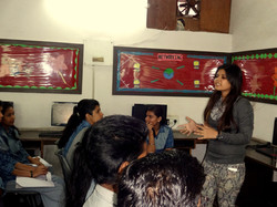 Interaction with students during workshop