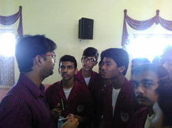 Students getting their queries solved