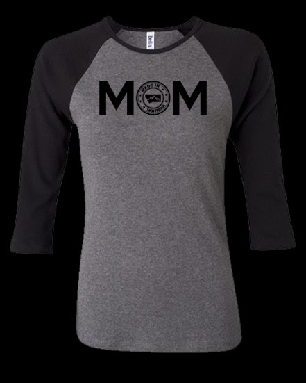 Made In MT Mom 3/4 Sleeve Women's Tee