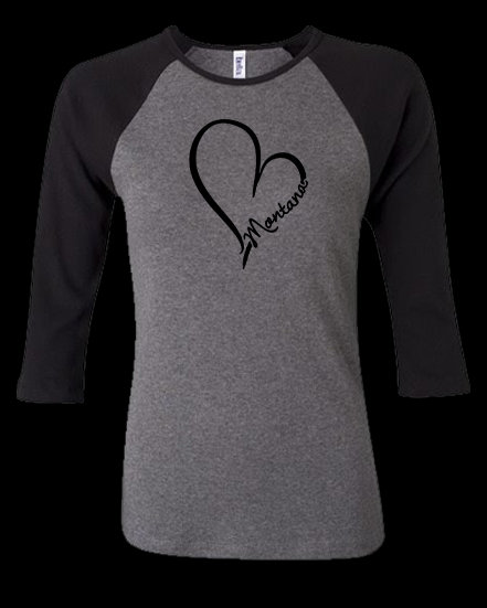 Montana Love 3/4 Sleeve Women's Tee
