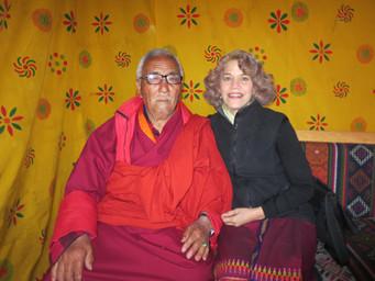 With Chakar Lam Dorje at 2015 Jampa Lhakhang Drup