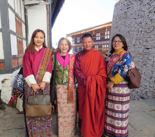 With Bumthang friends at Trongsa Tshechu