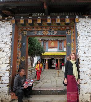 At the Jampa Lhakhang Gate