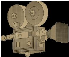 Cámara vieja moda de la película