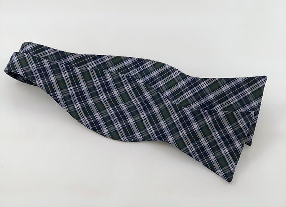 Blue & Green Plaid Bow Tie