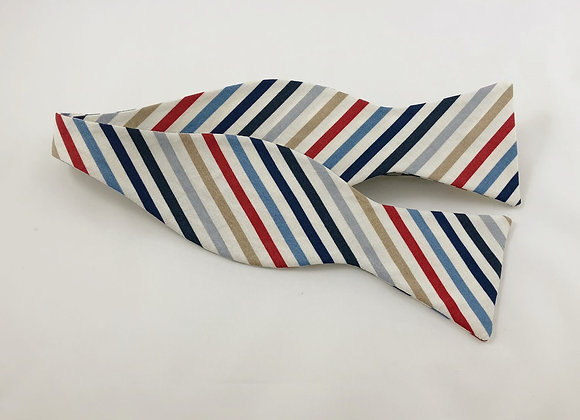 Multi Color Striped Bow Tie