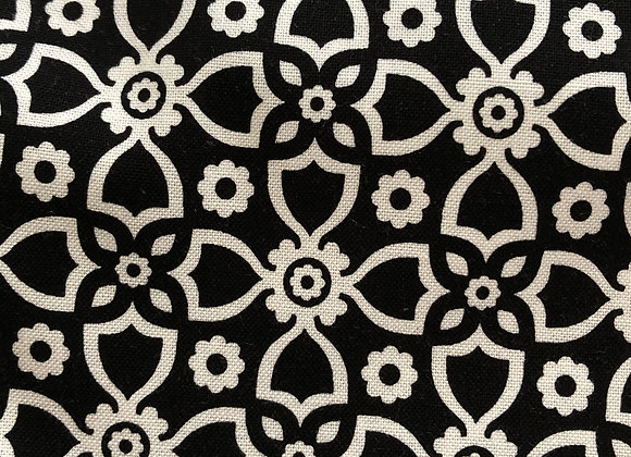 Black and white stylized floral- adult