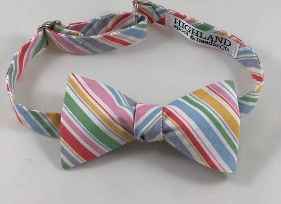 Pastel stripe adult bow tie