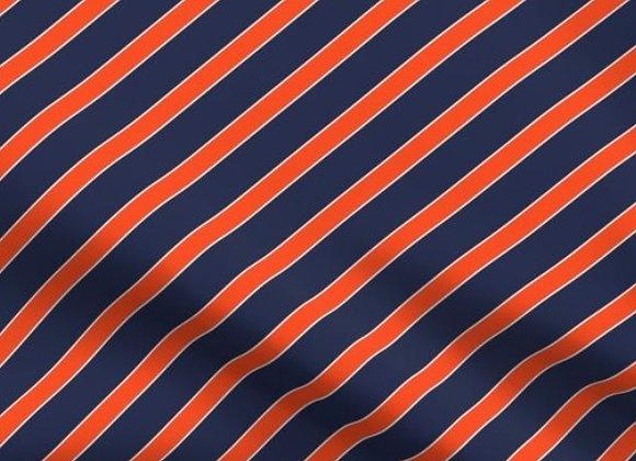 Orange and blue (UVA) diagonal stripe- adult