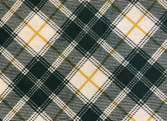 Green and gold plaid- adult