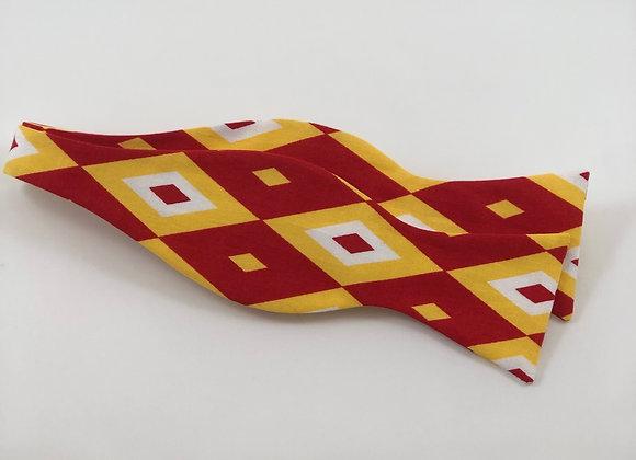 Red & Gold Diamond Bow Tie