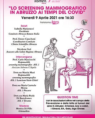Lo screening mammografico in Abruzzo ai