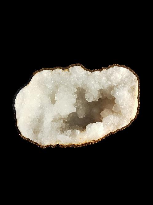 Géode de Quartz - Blanc Neige