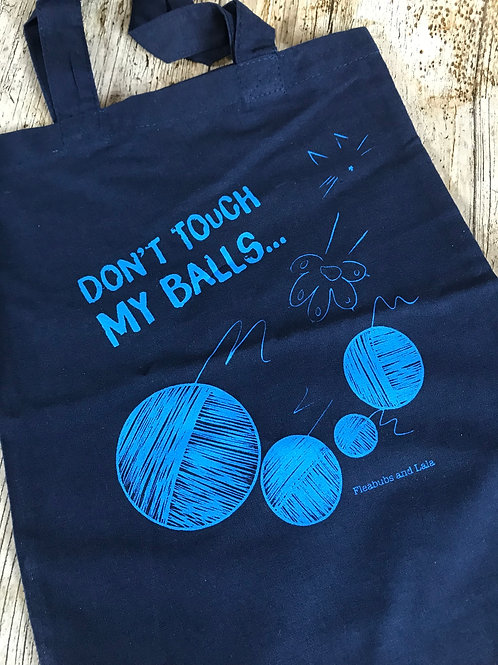 Small Project Bag - 'Don't Touch My Balls'