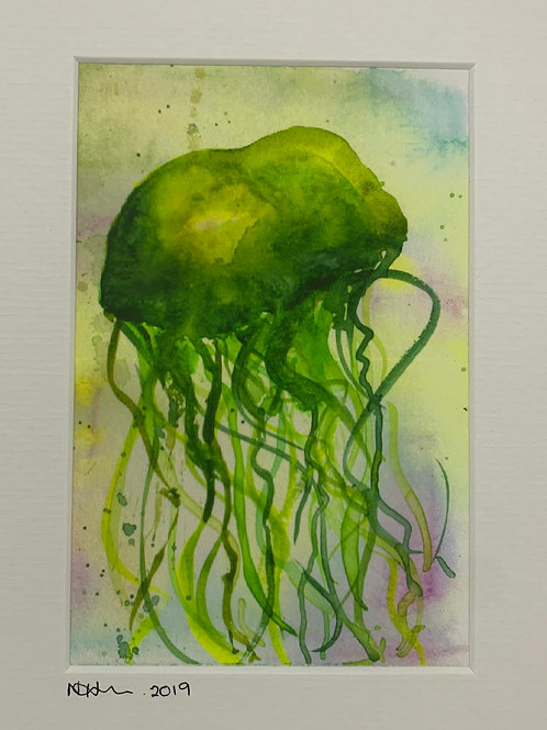 Watercolour Jellyfish Print -Postcard