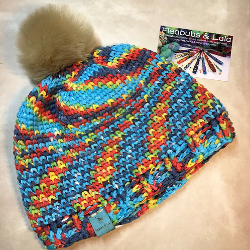 Not Knit Hat - Handmade by Lala - SMALL
