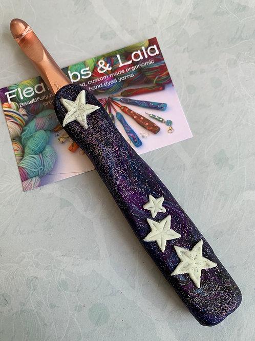 Customised Zing Crochet Hook - Glow in the Dark Stars