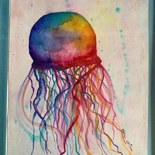 Watercolour Jellyfish - Original Painting A5