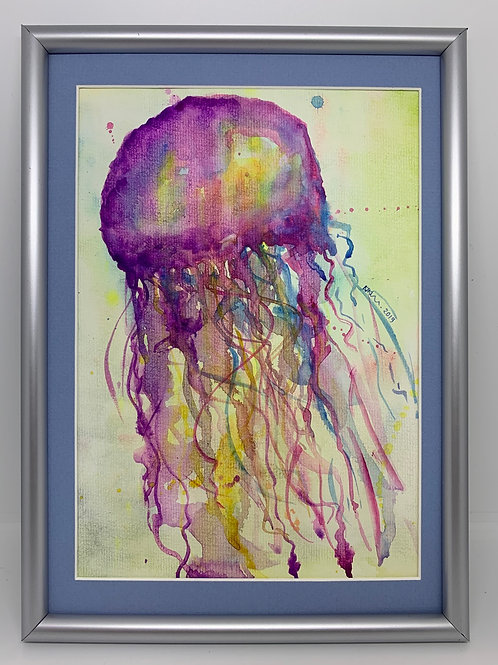 Watercolour Jellyfish - Original Painting A4