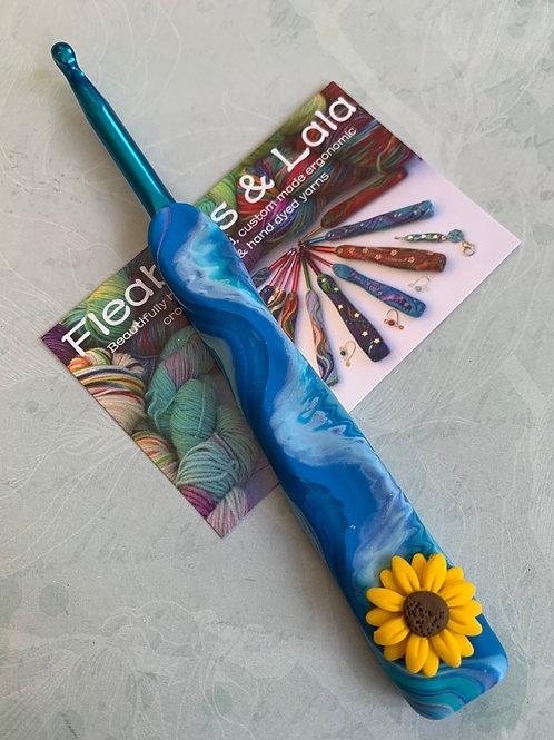 Customised Zing Crochet Hook - Flowers