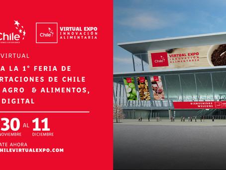 Primera Feria de Exportaciones de Chile para Agro & Alimentos, 100% digital