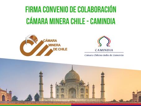 Cámara Minera de Chile y Cámara Chileno India de Comercio firman acuerdo de colaboración