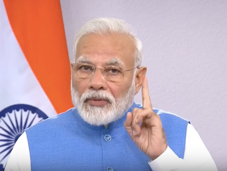 Palabras del Primer Ministro de India en relación a la lucha contra el COVID-19