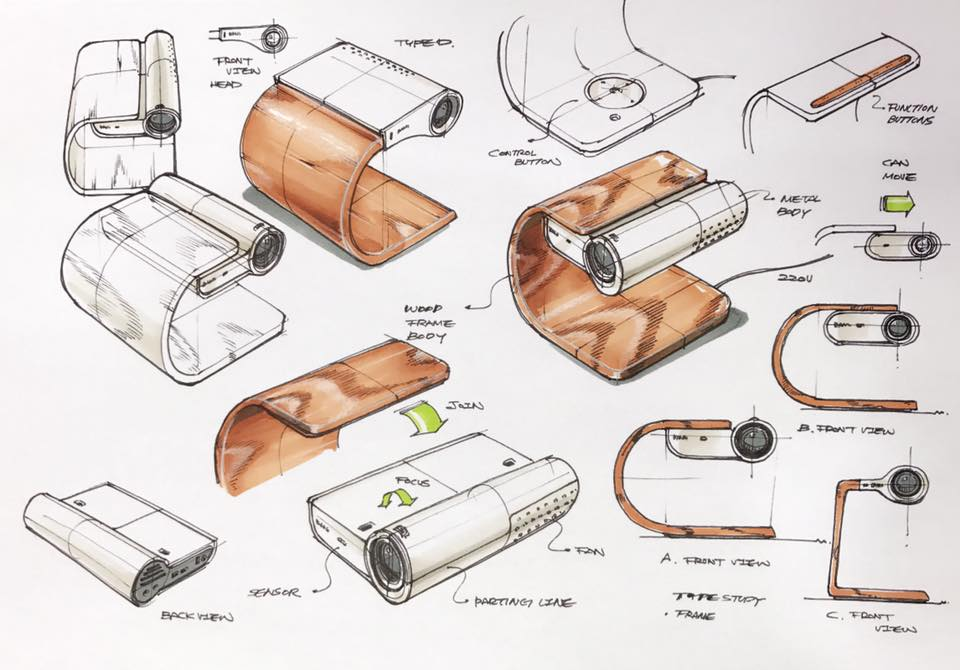 Projector design sketch