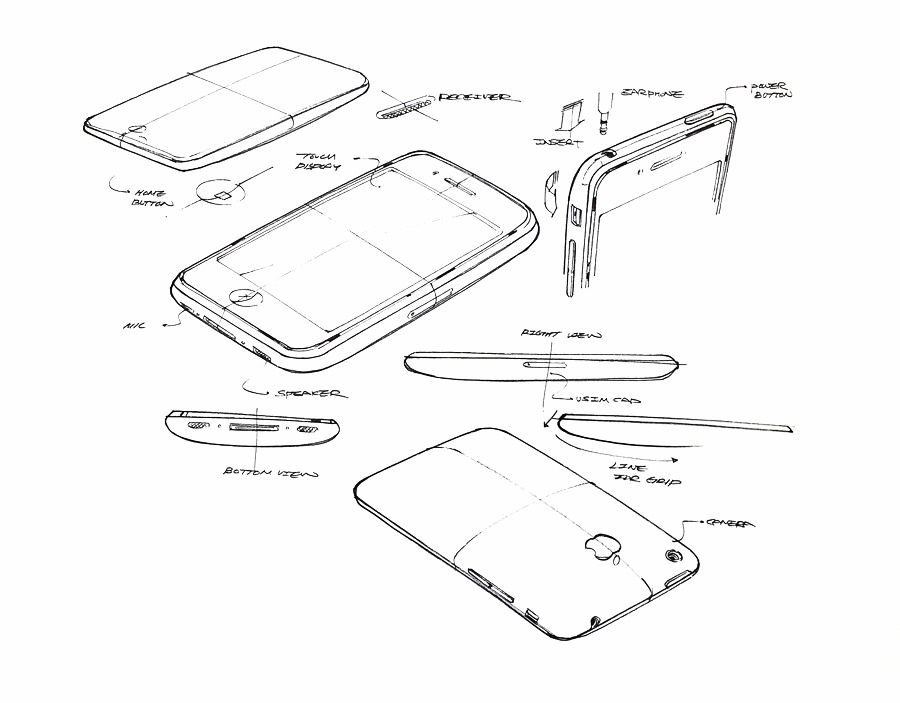 Iphone design sketch