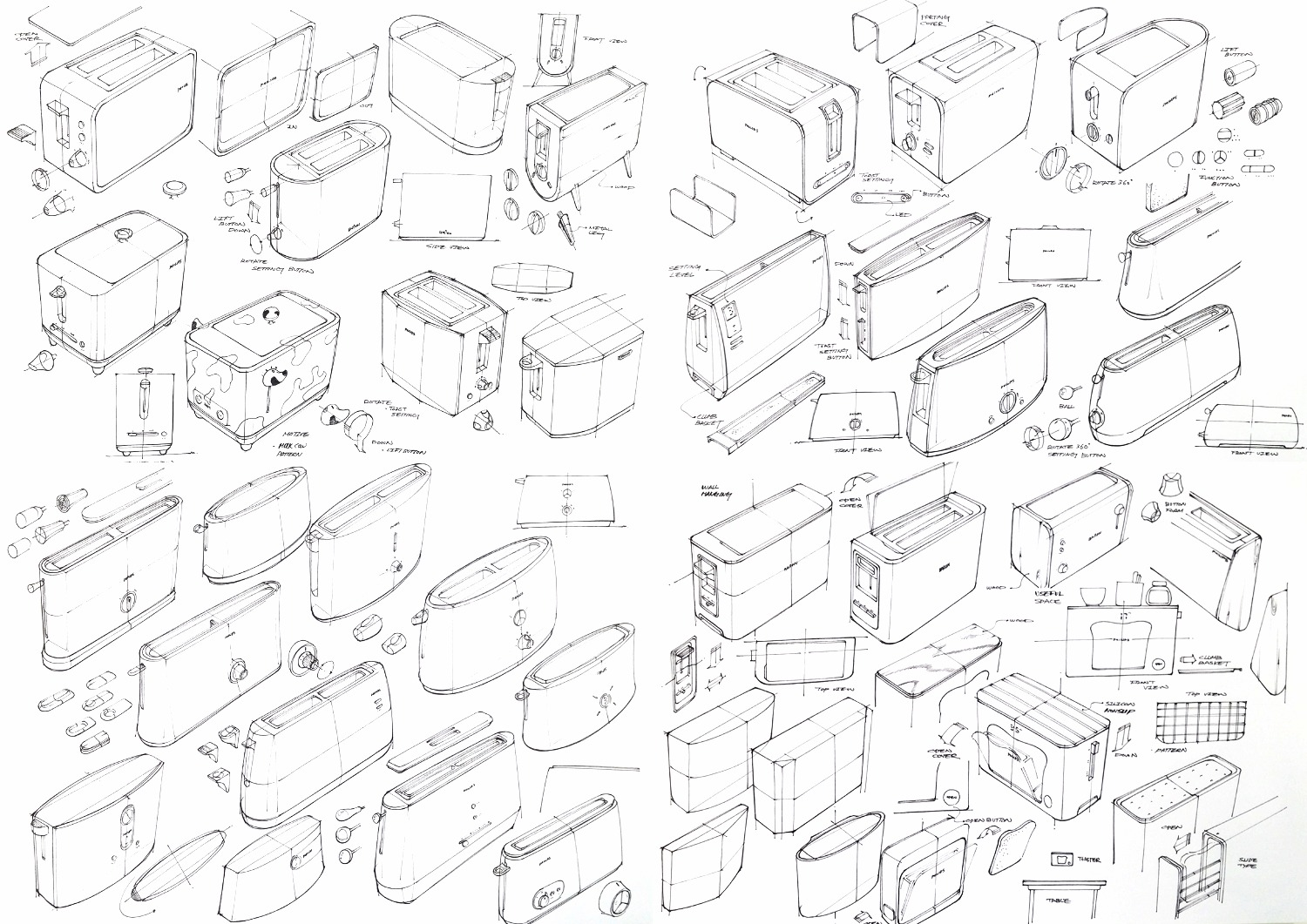 Toaster design sketch