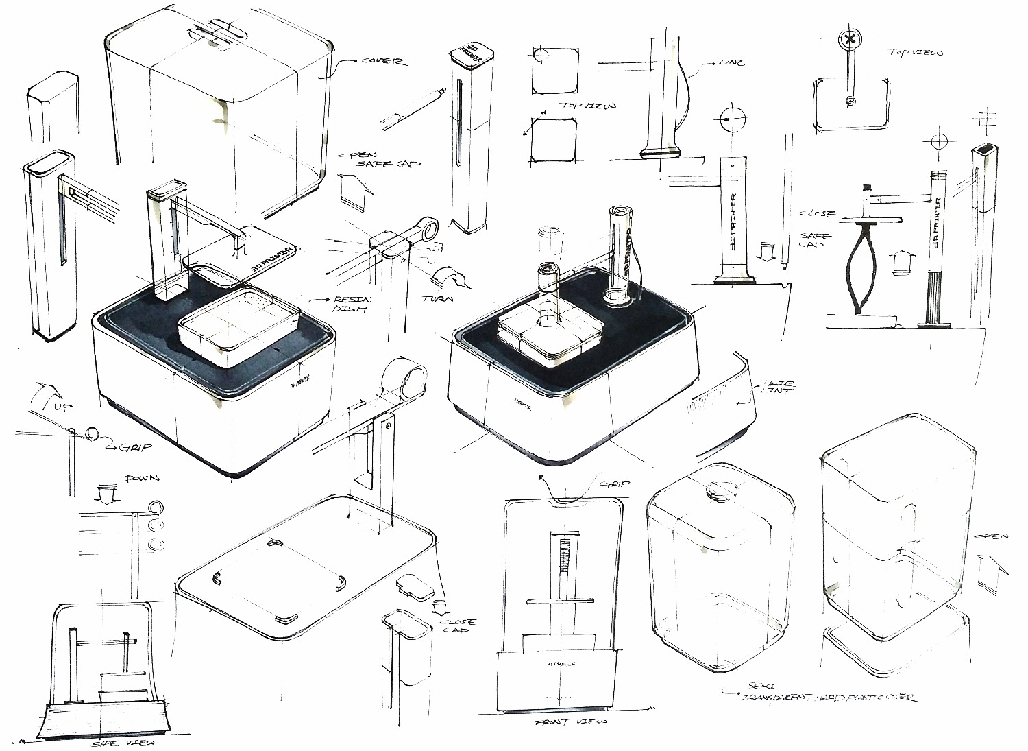 3D printer design sketch2