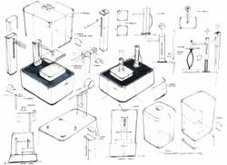 3D printer design sketch2