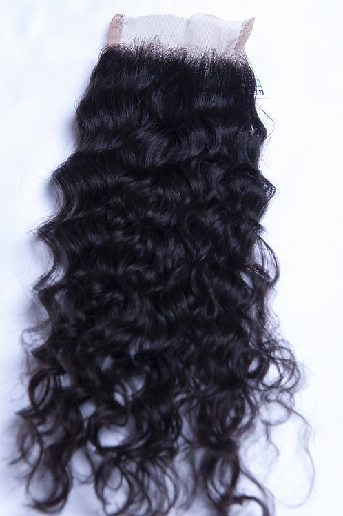 Curly Lace Closure - 10 inches