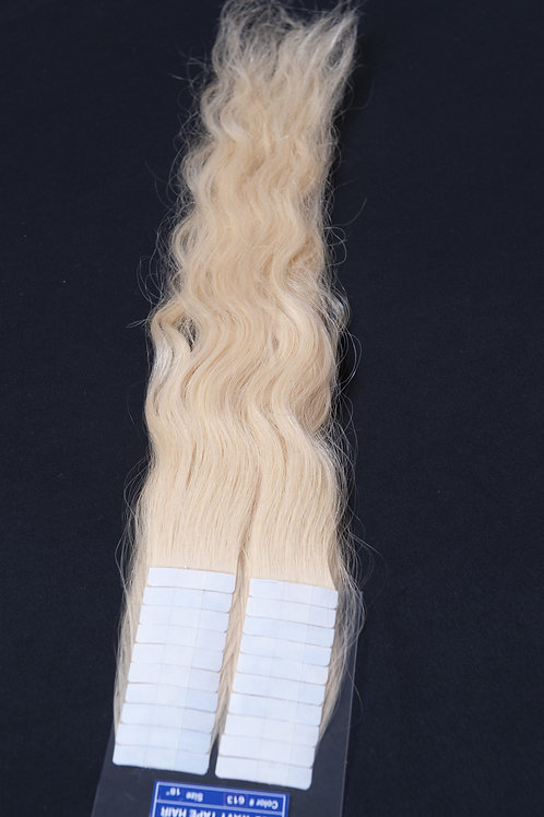 Wavy #613 Tape-in Hair - 18in