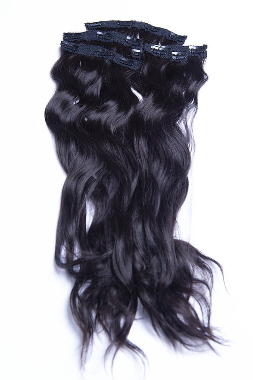 7 PIECE WAVY HAIR CLIPS - 12in
