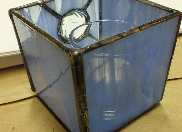 Vintage Jewel Blue Candle Holder