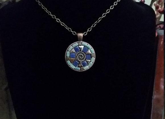 Bronze Celtic Disk Pendant Necklace