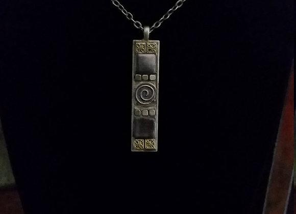 Bronze Shimmer Celtic Swirl Pendant Necklace