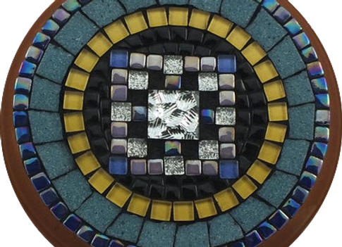 Blue Mosaic Medallion