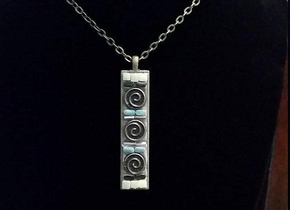 Triple Celtic Swirl Pendant Necklace