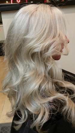 Pale platinum blond