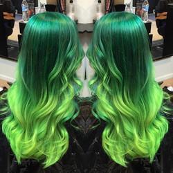 Stunning green fade