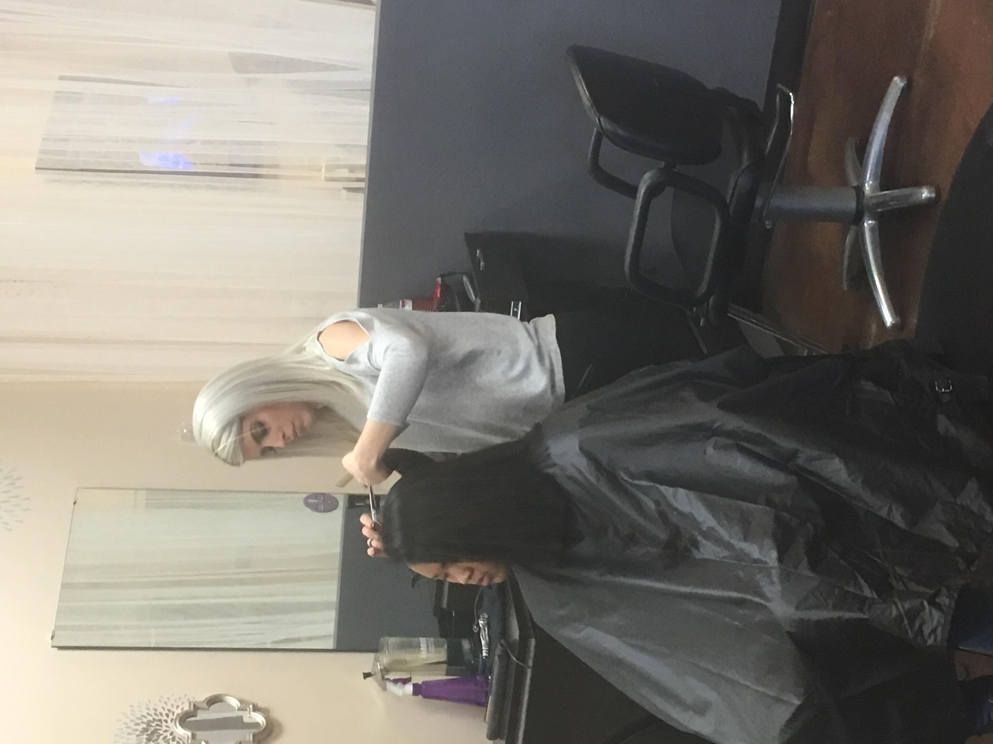 IOY's Kristen fine tuning a cut
